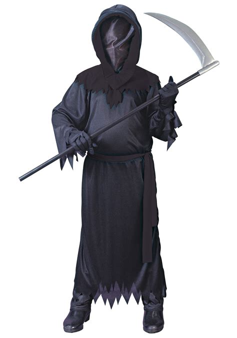 black costume child black faceless ghost costume