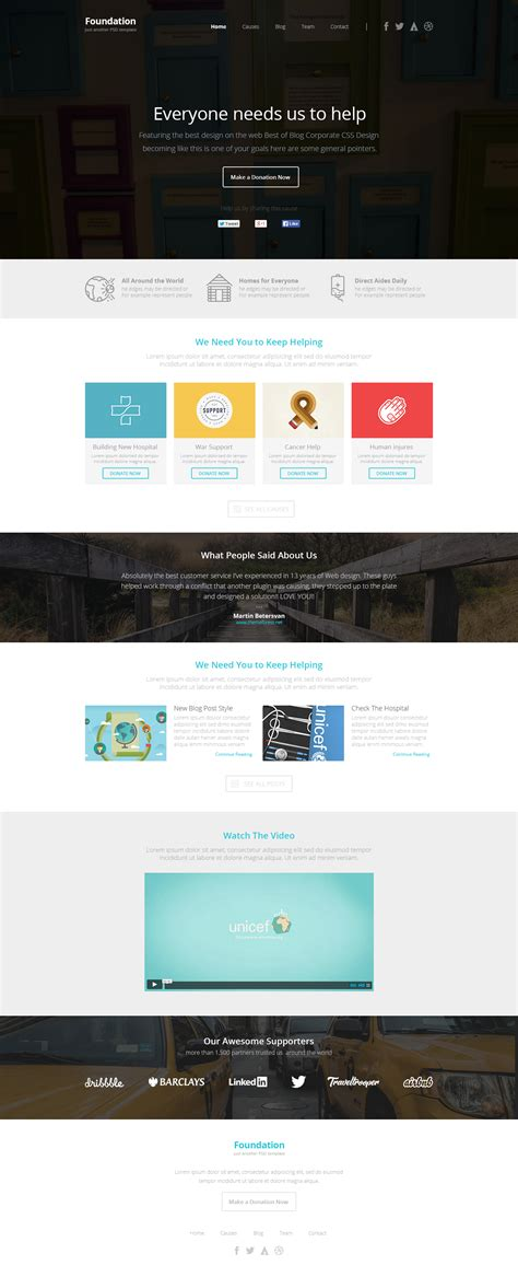Foundation Nonprofit Multipurpose Html5 Template By Pixfort Themeforest Foundation Html5 Templates