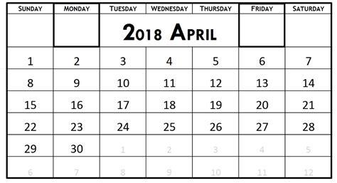 printable calendar 2018 fillable printable april 2018 calendar fillable printable