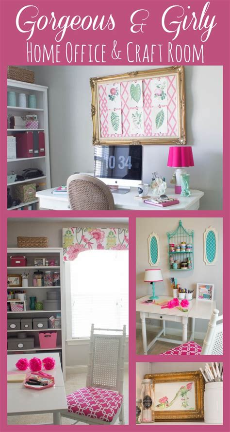 pink craft room hometalk pink green girly organized ultimate home