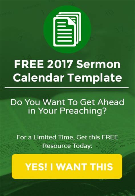 5 Essential Qualities Of Great Pastors And Church Planters Preaching Calendar Template