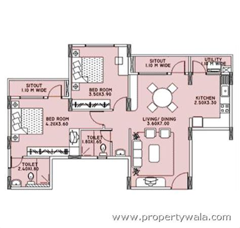 layout of kfc oceanus freesia apartment sarjapur road bangalore