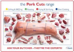 pork cuts pig diagram poster high quality silk wall poster