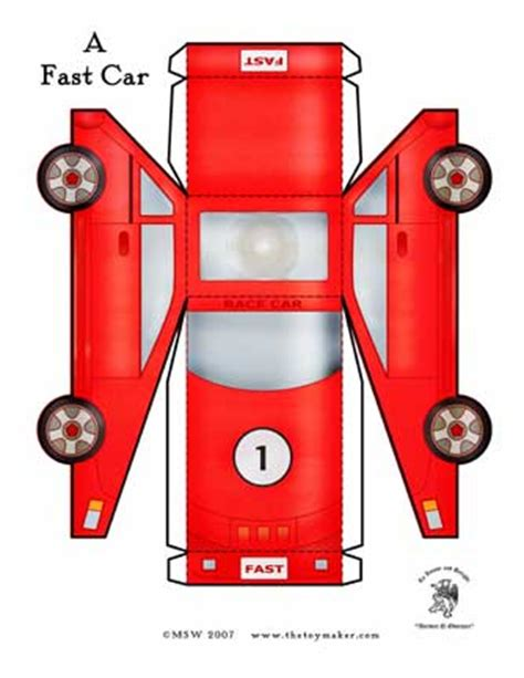 race car template creative ideas for you free paper toys
