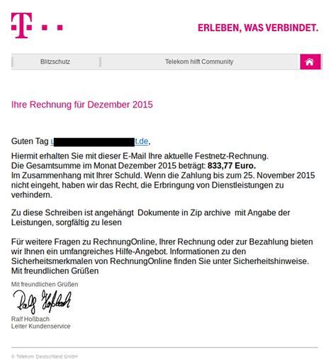 Muster Telekom Rechnung Der Ratgeber Internetkriminalit 228 T Der Polizei