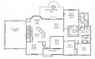 Ranch Floor Plans by House Plans New Construction Home Floor Plan