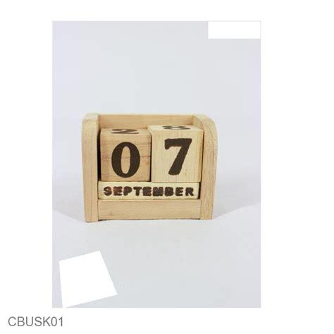 Taplak Lemari Taplak Bufet souvenir kalender kayu original coklat kalender unik