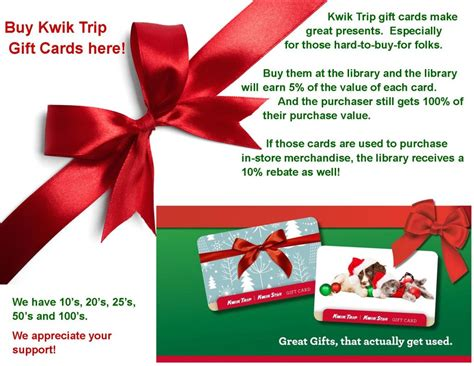 Kwik Trip Gift Card Online - kwik trip cards make great gifts chatfield public library