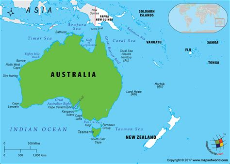 map of islands and surrounding area map of australia and surrounding islands