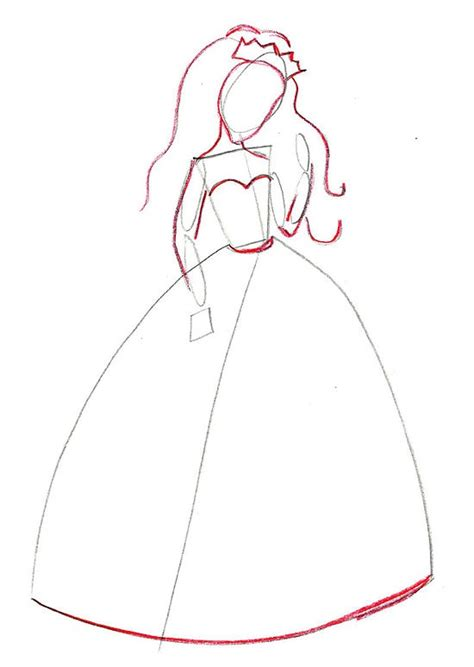 How To Draw A Princess Dress Step By Step Printable Pinterest The World S Catalog Of Ideas