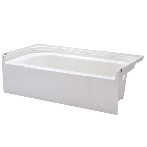 sterling bathtubs sterling ensemble 5 ft right drain soaking tub in white