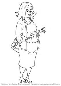 step step draw rich aunt ruby horrid henry drawingtutorials101
