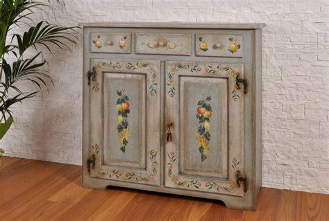 credenze decorate raffinata credenza a 3 cassetti e 2 ante di lusso dipinta