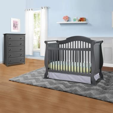 Convertible Crib And Dresser Set by Storkcraft Valentia 2 Nursery Set Convertible Crib