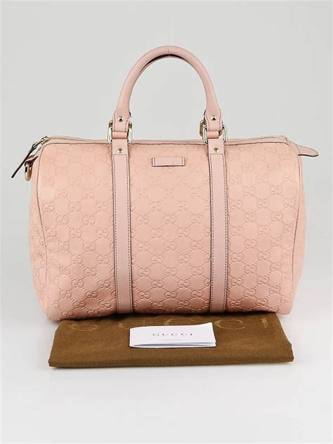 Gucci Boston Bag Bag Bliss by Gucci Pink Guccissima Leather Medium Boston Bag