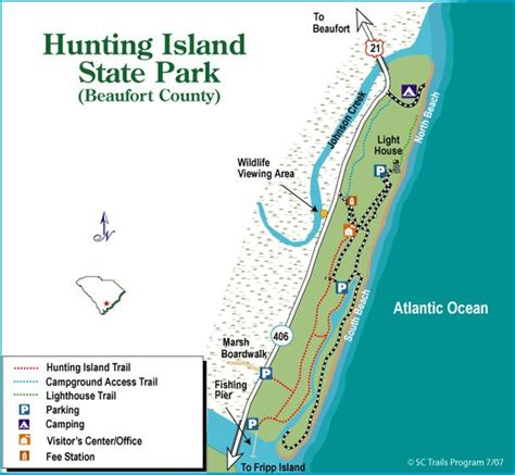 map of carolina state parks island sc cground map south carolina state