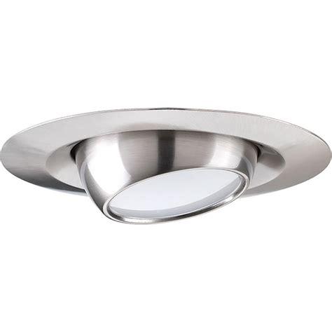 6 brushed nickel recessed light trim lighting 6 in brushed nickel eyeball recessed trim
