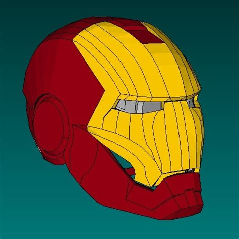 How To Make Iron Mask Out Of Paper - iron helmet papercraft jpg