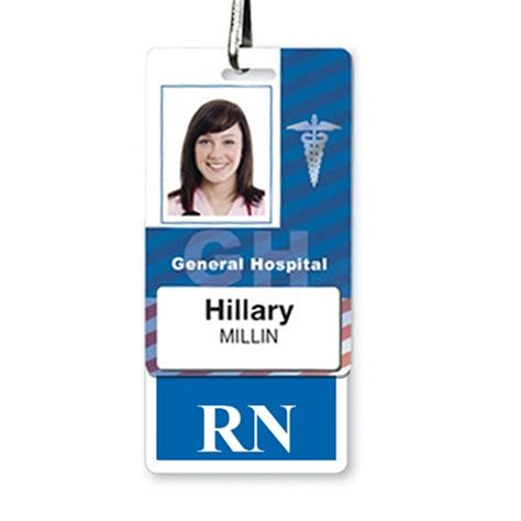 hospital id badge template quot rn quot registered hospital id badge buddy and more