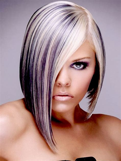 hairstyles with blonde and purple highlights 35 best short hair colors short hairstyles 2017 2018