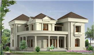 bungalow plans 5 bedroom luxurious bungalow floor plan and 3d view home kerala plans