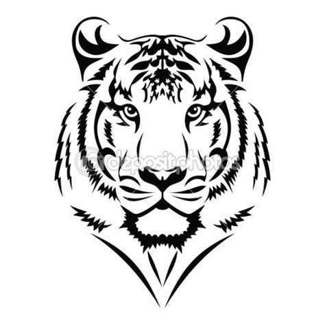 free tiger tattoo designs tribal tiger tiger stock vector