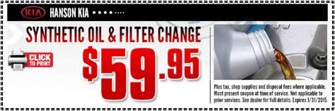 Kia Change Coupons Kia Lube Service Special Olympia Wa Car Repair