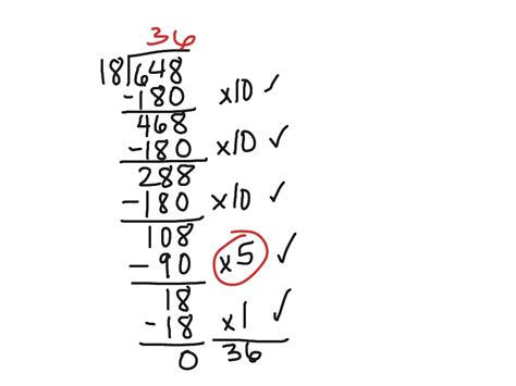 Partial Quotient Division Worksheets by Partial Quotient Division Math Showme