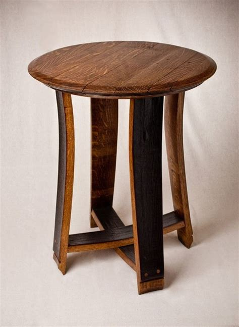 barrel accent table barrel top accent table side tables and end tables denver by alpine wine design