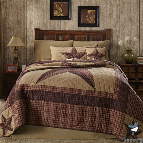 country bed comforter sets red brown rustic western country star twin queen cal king