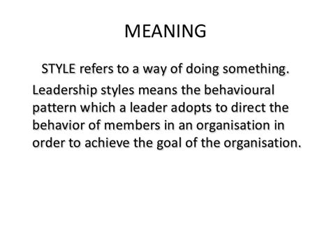 decor meaning leadership styles principles of management