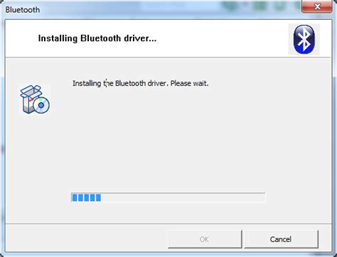 windows 7 toshiba bluetooth driver installation stalls at 5 bars user