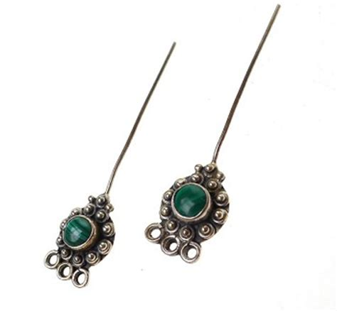 headpins for jewelry malachite headpins sterling silver and malachite jewelry
