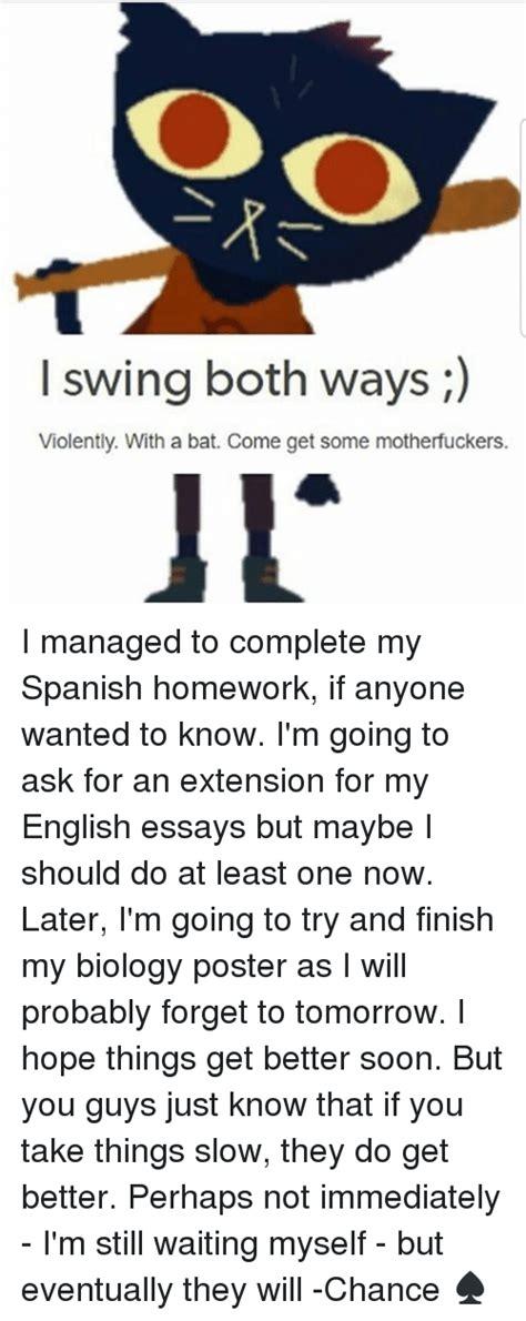 i swing both ways do my spanish homework for me