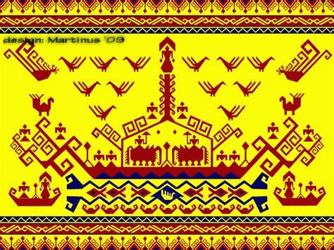 Tapis Motif Perahu kain kapal ship cloth kain tradisional lung