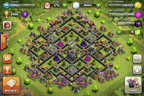 layout level 9 clash of clans top 10 clash of clans town hall level 9 defense base design