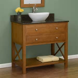 Sink Vanity Bamboo 36 Quot Clinton Bamboo Vessel Sink Vanity Bathroom