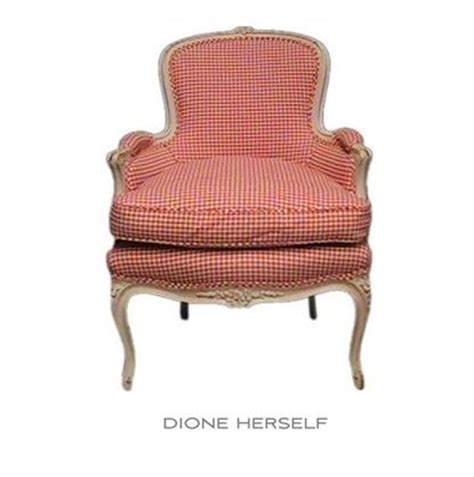 red check armchair french red check bergere chair