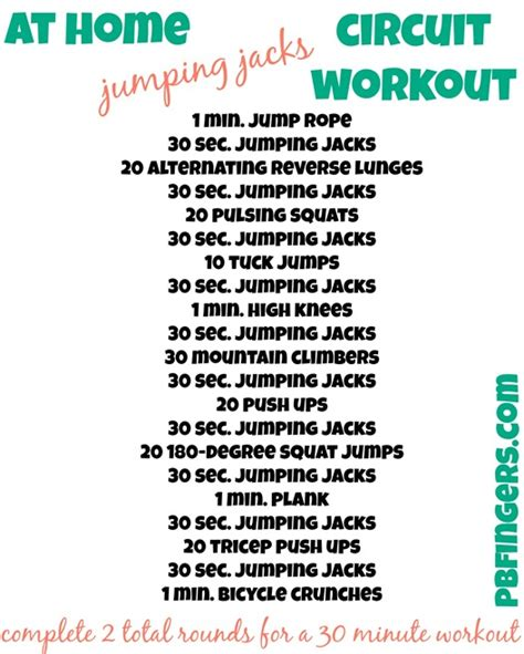 four 30 minute workouts peanut butter fingers