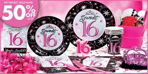 sweet 16 party supplies party city pin by misty thomas on sweet 16 pinterest
