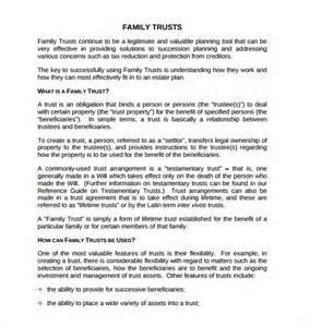 free living trust template sle living trust form templates 8 sles exles