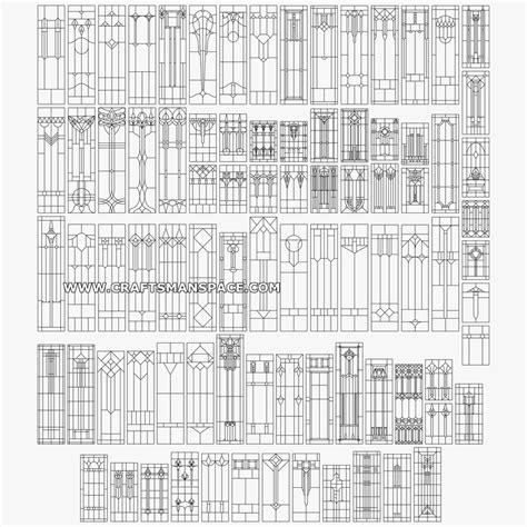 geometric pattern dwg collection of vertical geometric stained glass patterns