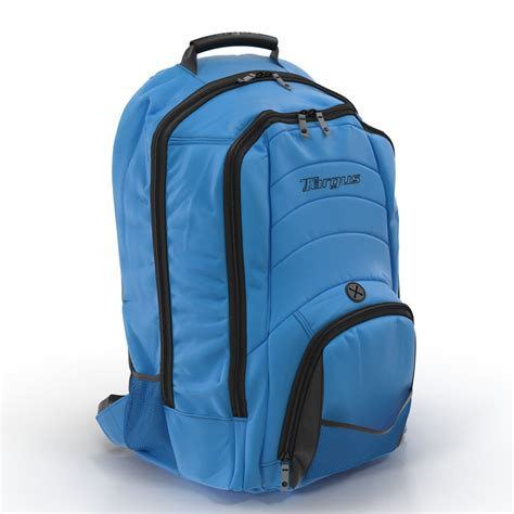 Max Backpack Blue backpack blue modeled 3d max