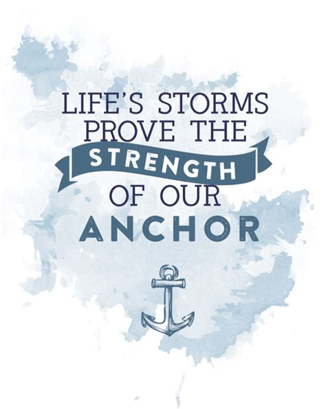 printable quotes about strength nautical inspired summer mantel anchor art free