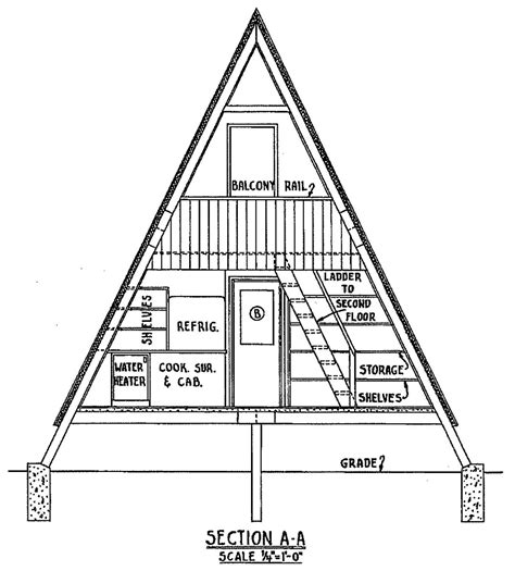 A Frame Blueprints Free A Frame Cabin Plan With 3 Bedrooms