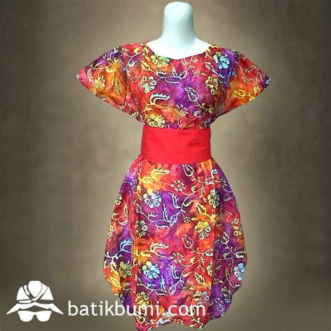 Dress Bunga Biru Kerut 45 best batik dress wanita images on batik