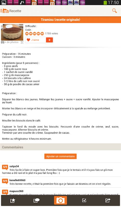 cuisiner des panais marmiton marmiton recettes gourmandes android apps on play