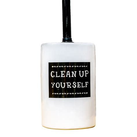 clean up bathroom quot clean up yourself quot ceramic toilet brush holder buy