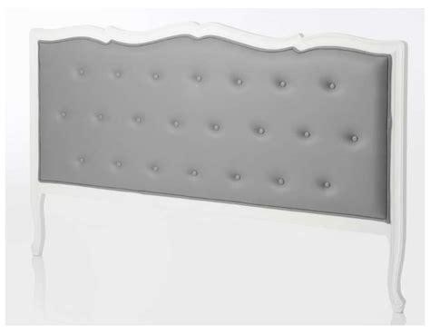 tete de lit en 160 538 t 234 te de lit baroque grise capitonn 233 e 180 cm amadeus