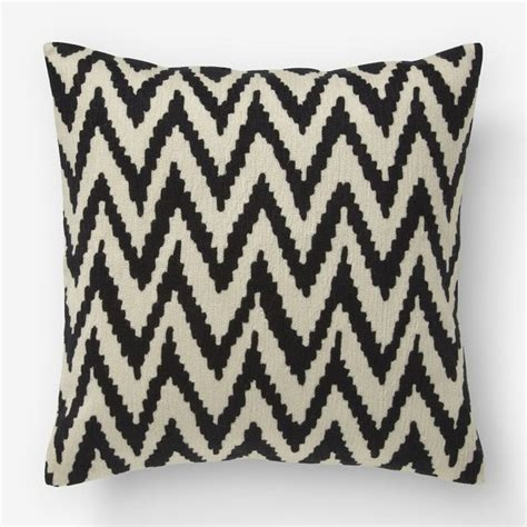 Modern Decorative Pillows Chevron Crewel Pillow Cover Iron Muslin Modern